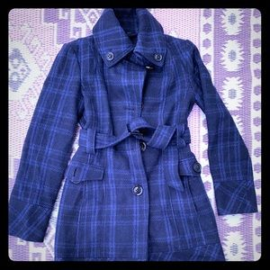 Wool pea coat button up